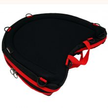 Trabasack Curve Connect bag and lap tray in one with red trim