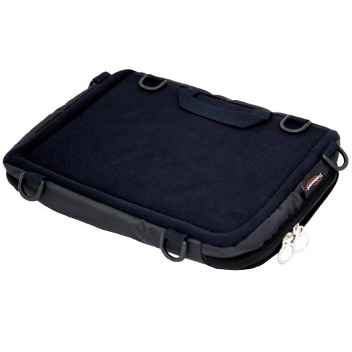 Trabasack Mini Connect lapdesk and bag with velcro receptive tray surface