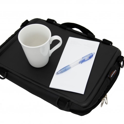 Trabasack Mini lap desk and bag with cup and note book