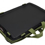 Trabasack Mini lapdesk and bag with green trim