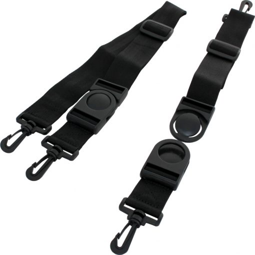 Image shows length of Trabasack long, button buckle release straps