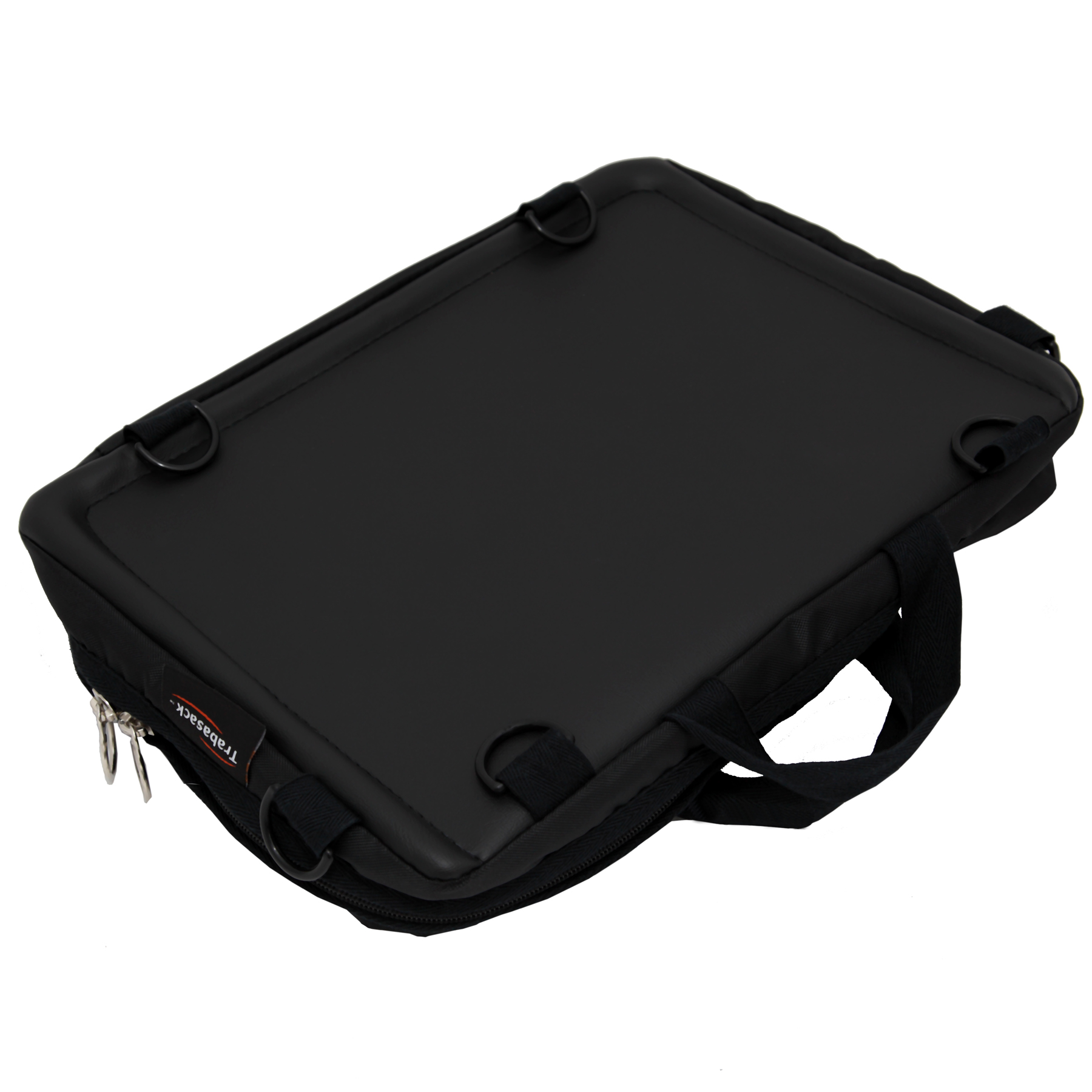 Image shows the tray side of the Trabasack Mini