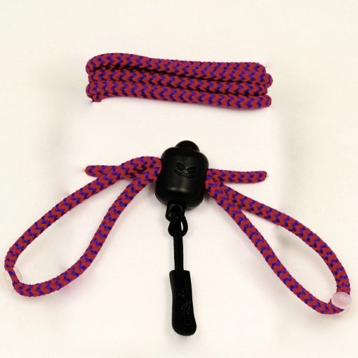 Photograph of Pink and Purple striped Greeper Hikers Laces