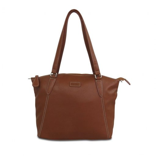 Image shows a photograph of the Sam Renke handbag in a Chestnut brown colour on a white background