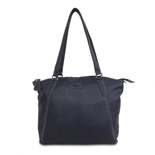 Image shows a photograph of a ladies handbag in Graphite colour on a white background