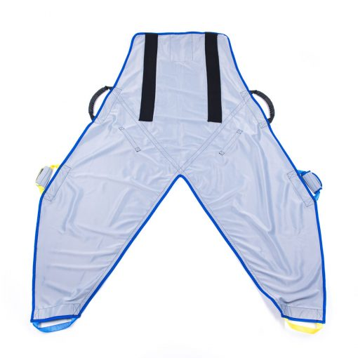 Image shows the front view of the ProMove Adult Sling with Head Support, on a white background