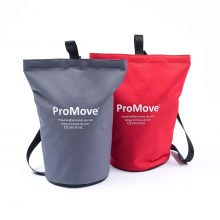 image shows the grey and red ProMove Carry Bags, stood upright on a white background