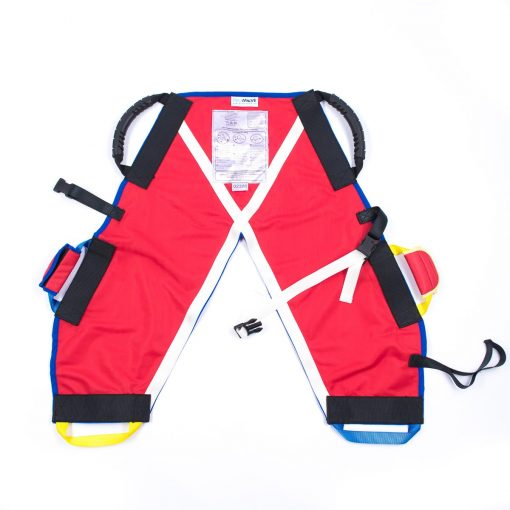 Image shows the smallest of the ProMove child slings, lay flat on a white surface.